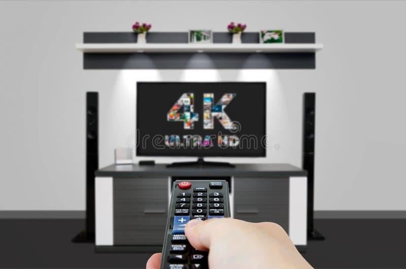 TV ultra HD upplösningsteknologi för television 4K royaltyfri fotografi