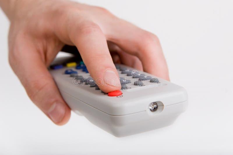 TV van de afstandsbediening stock foto's