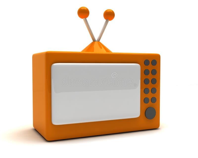 TV van het beeldverhaal royalty-vrije illustratie