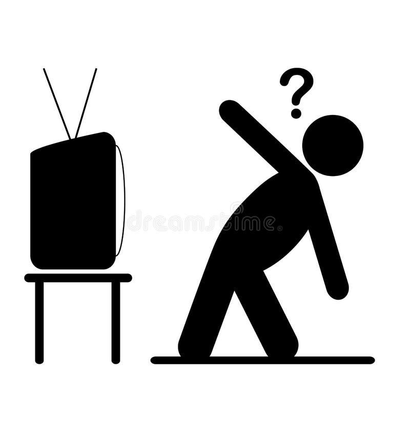 TV-van het de mensenpictogram van de yogales het vlakke die pictogram van een privé-leraar op whit wordt geïsoleerd stock illustratie