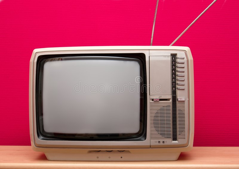 TV van Vintgae royalty-vrije stock foto