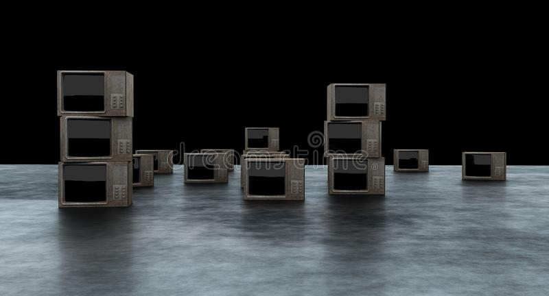 TV-vertoning het 3D teruggeven stock illustratie