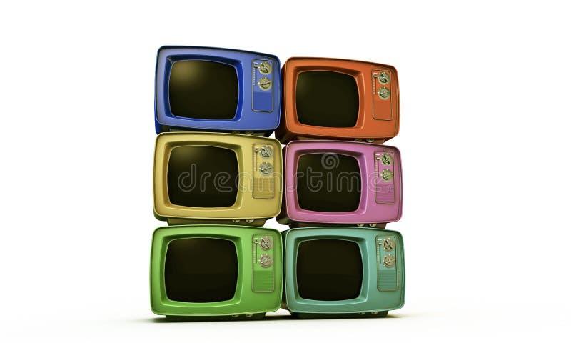 TV vieja ilustración del vector
