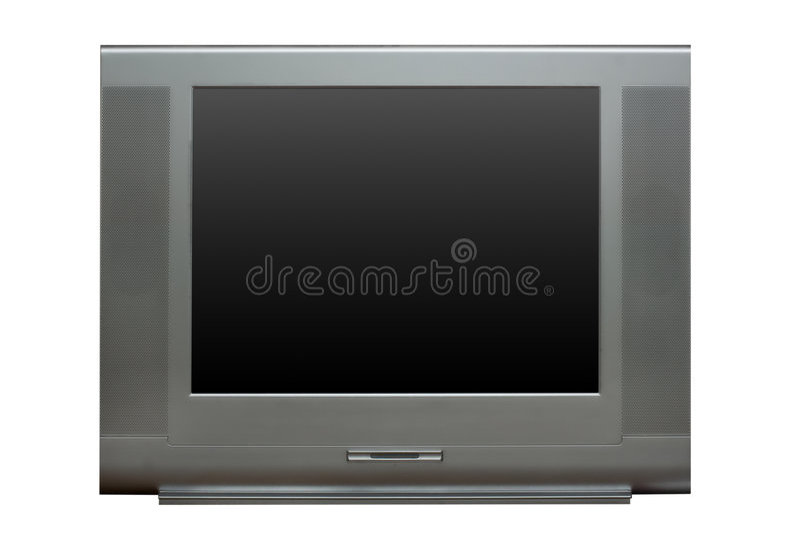 TV, vue de face images libres de droits