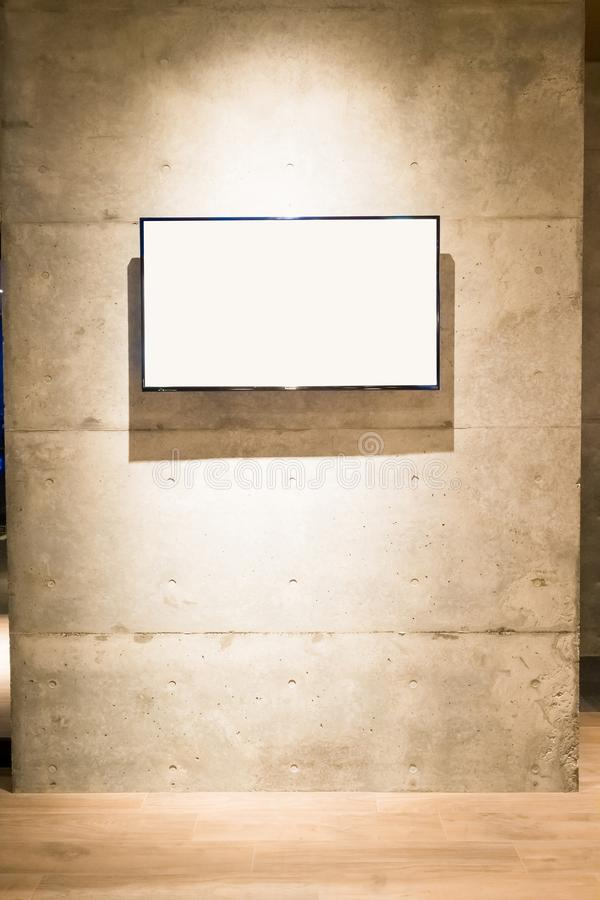 Tv on the wall. Great for your design stock photo