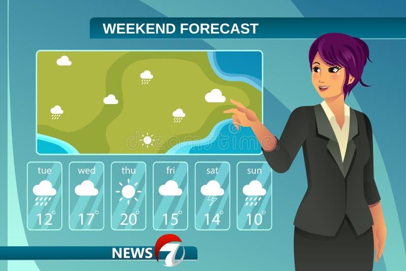 TV Weather News Reporter vector illustration