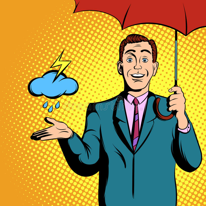 TV weather news reporter at work stock illustration