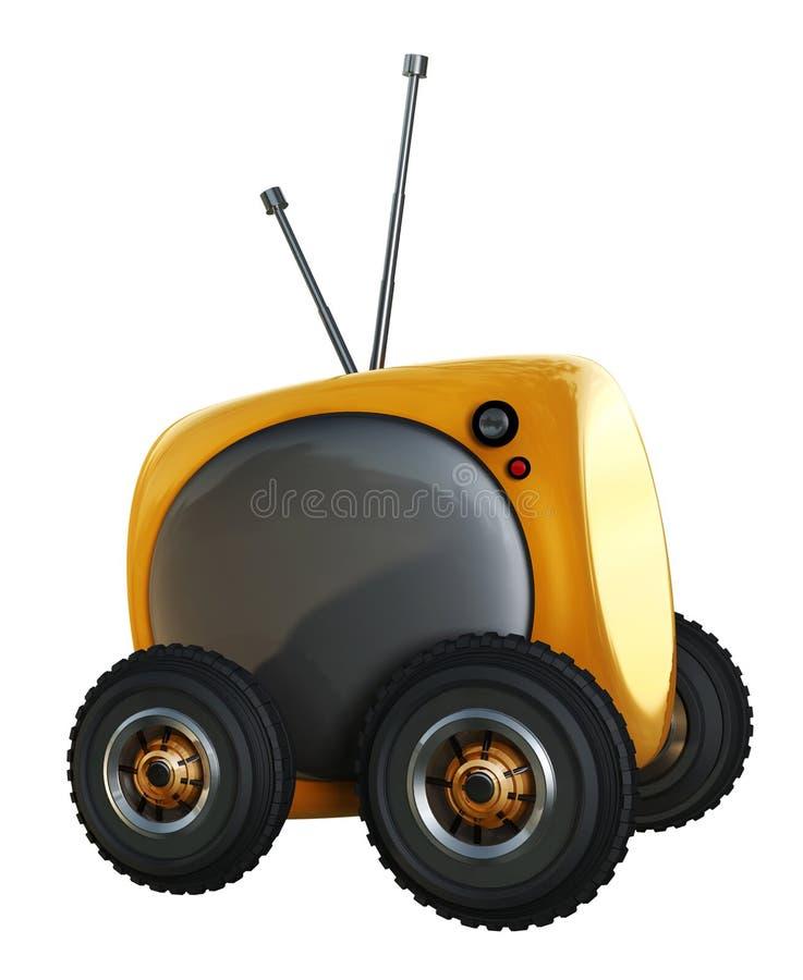 TV ON Wheels Stock Photo