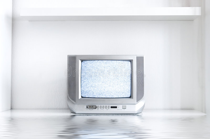 Download TV in white interior stock image. Image of tube, silver - 2482013