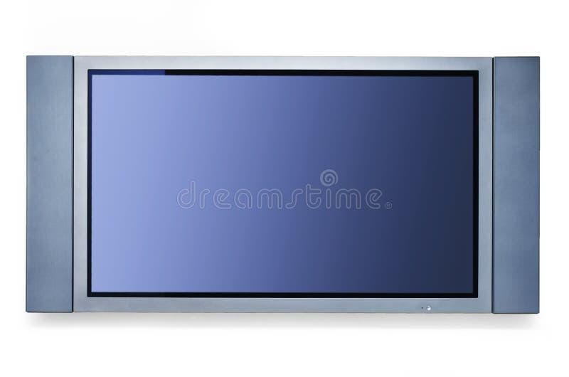TV On White Wall Royalty Free Stock Photo