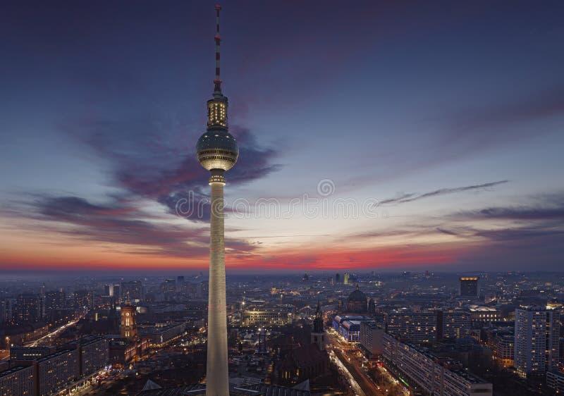TV wierza Berlin przy Alexanderplatz fotografia royalty free