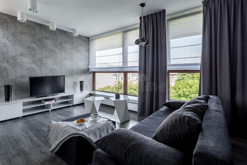 TV-woonkamer met laag royalty-vrije stock fotografie