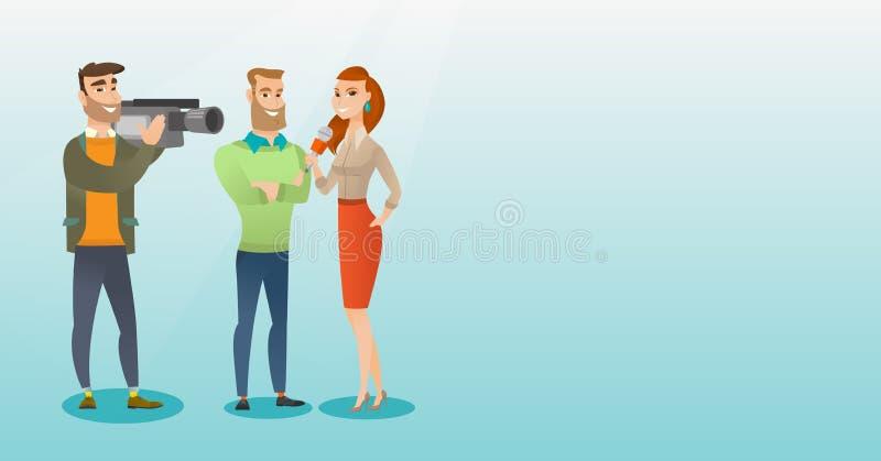TV wywiadu wektoru ilustracja ilustracja wektor