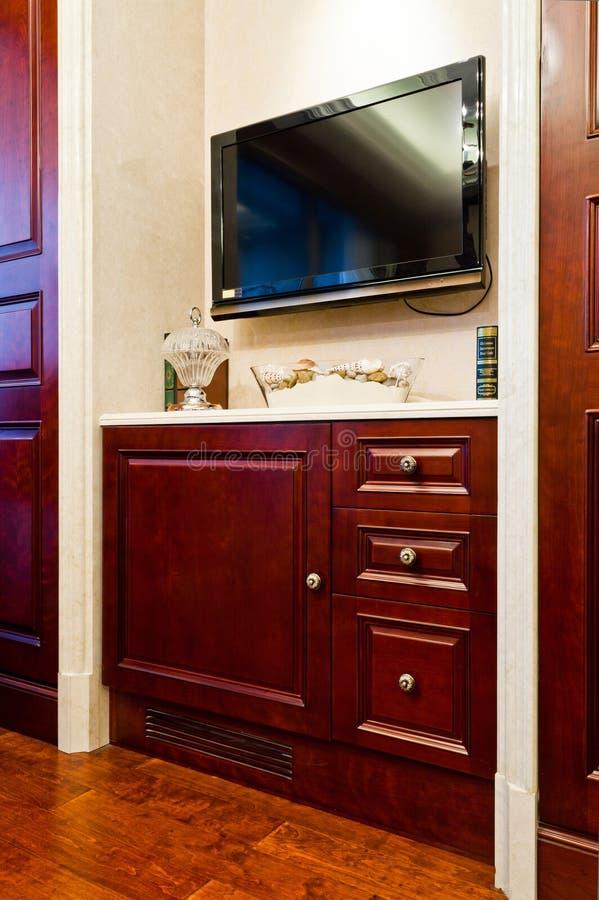 TV y cabina fotografía de archivo libre de regalías