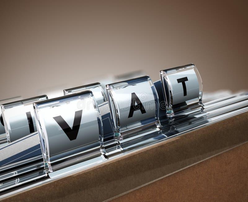 TVA, taxe à la valeur ajoutée illustration stock
