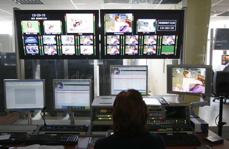 TVdirektörrum royaltyfria bilder