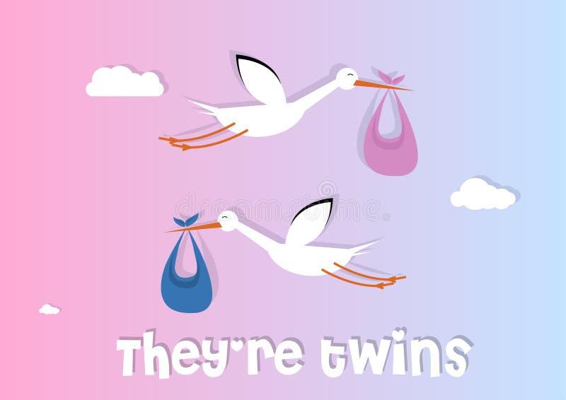tvilling- royaltyfri illustrationer