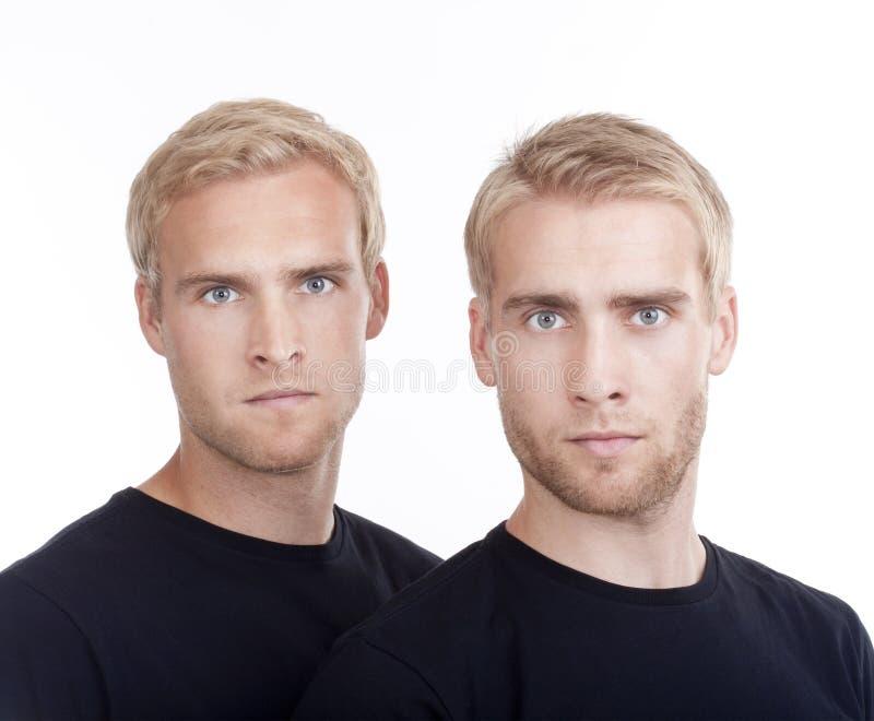 tvilling- broderstående royaltyfria foton