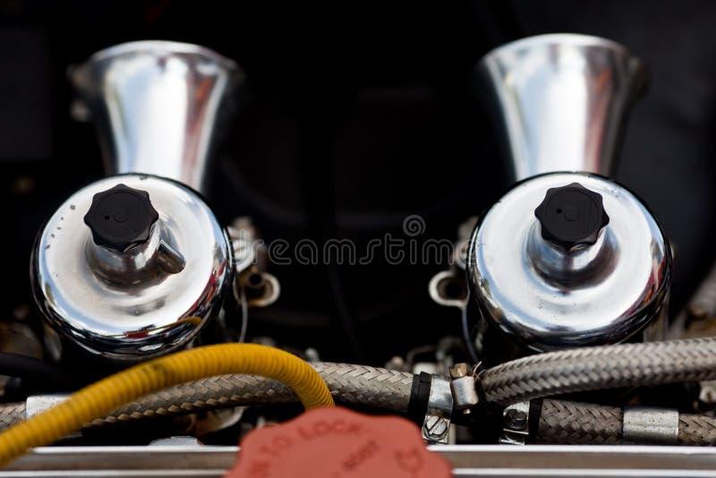 Tvilling- Carburetor Arkivfoto