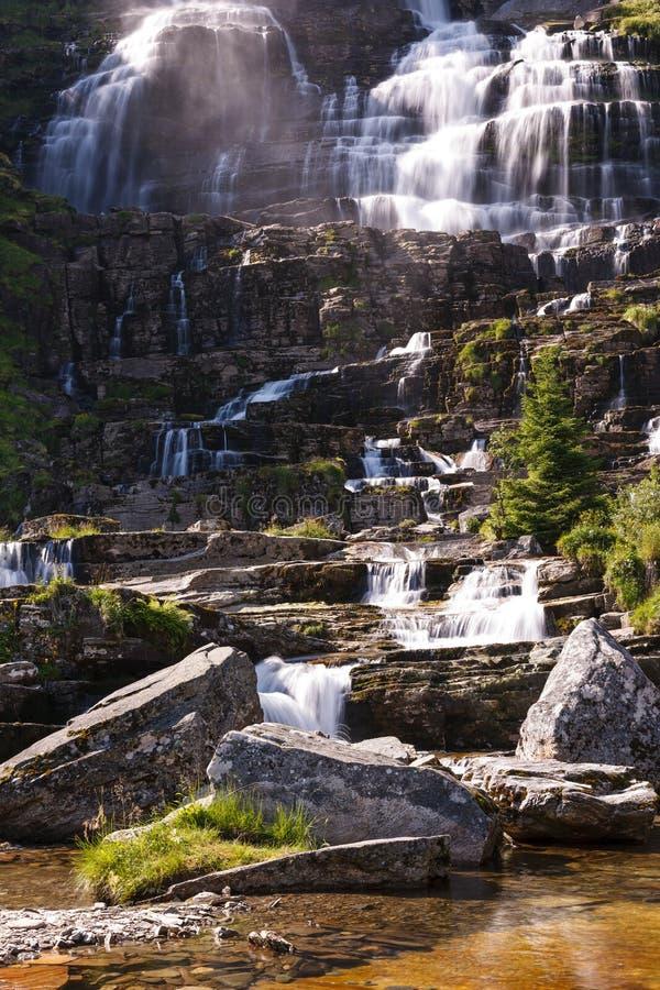 Tvindefossenwaterval, Noorwegen royalty-vrije stock fotografie