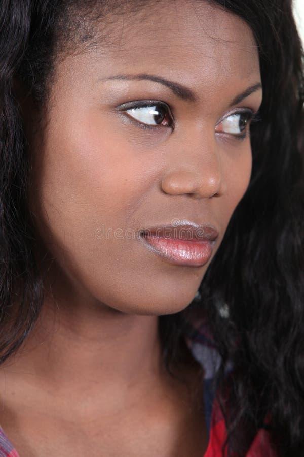 Tvivelaktigtt kvinna royaltyfri fotografi