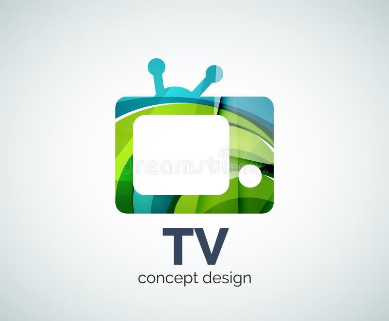 TVlogomall vektor illustrationer