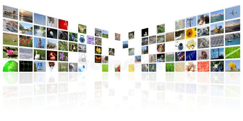 Tvnyhetsmediainternet royaltyfri foto