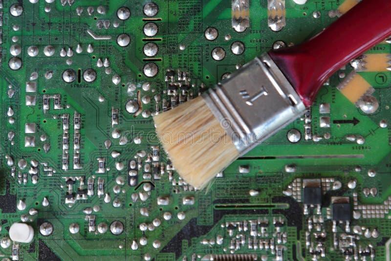 TVströmkretsbräden och omformare gör ren arkivfoto