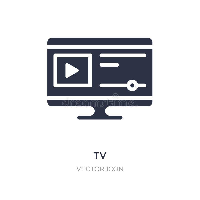 TVsymbol på vit bakgrund Enkel beståndsdelillustration från blogger- och influencerbegrepp vektor illustrationer