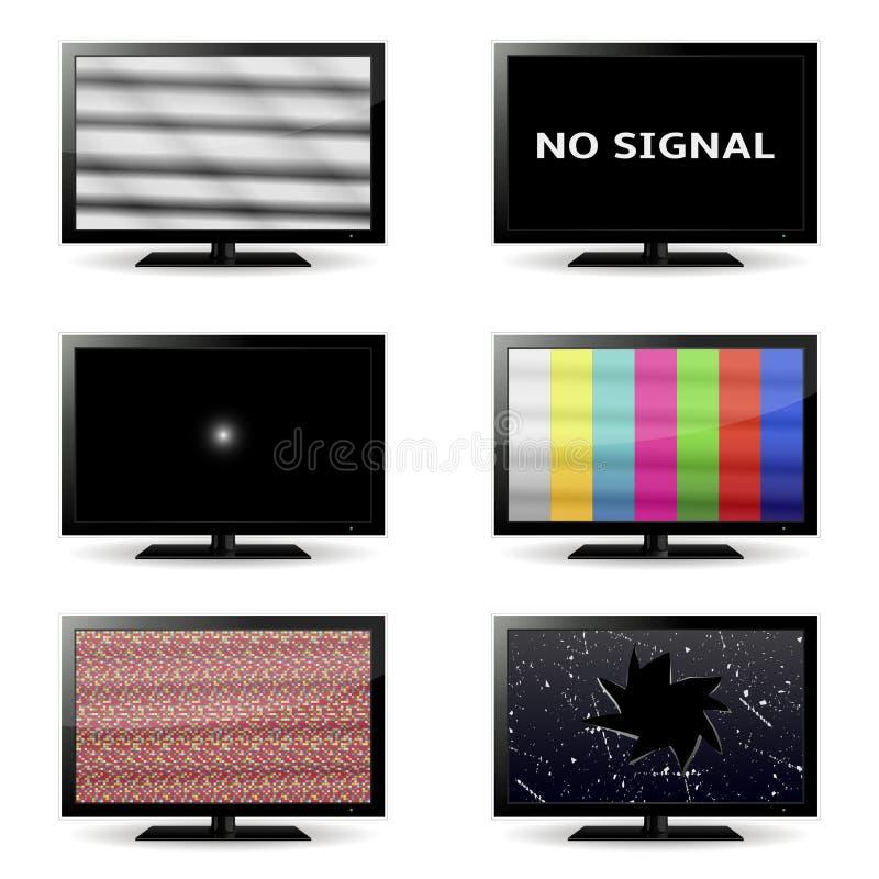 TVsymboler vektor illustrationer