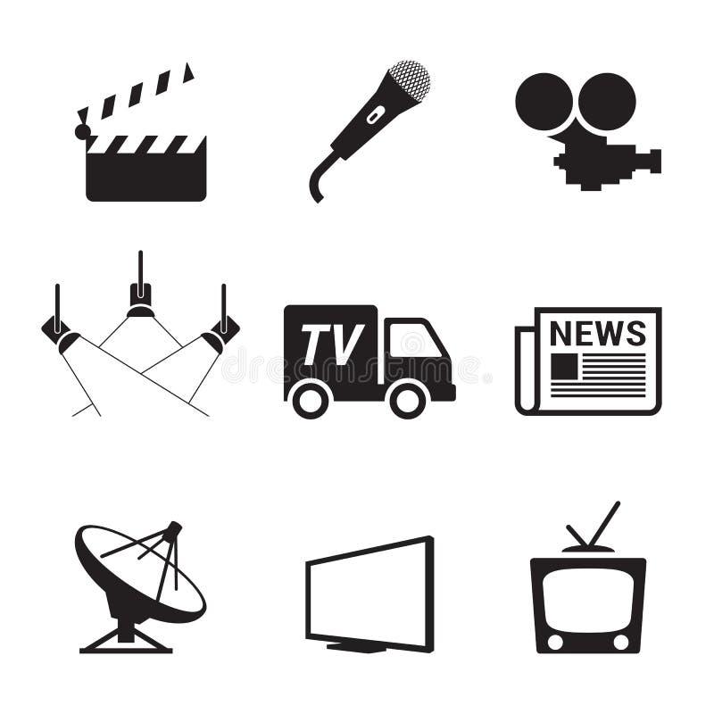 TVsymboler royaltyfri illustrationer