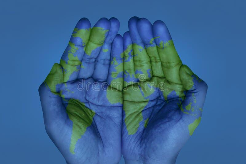 twój świat ręce ilustracji