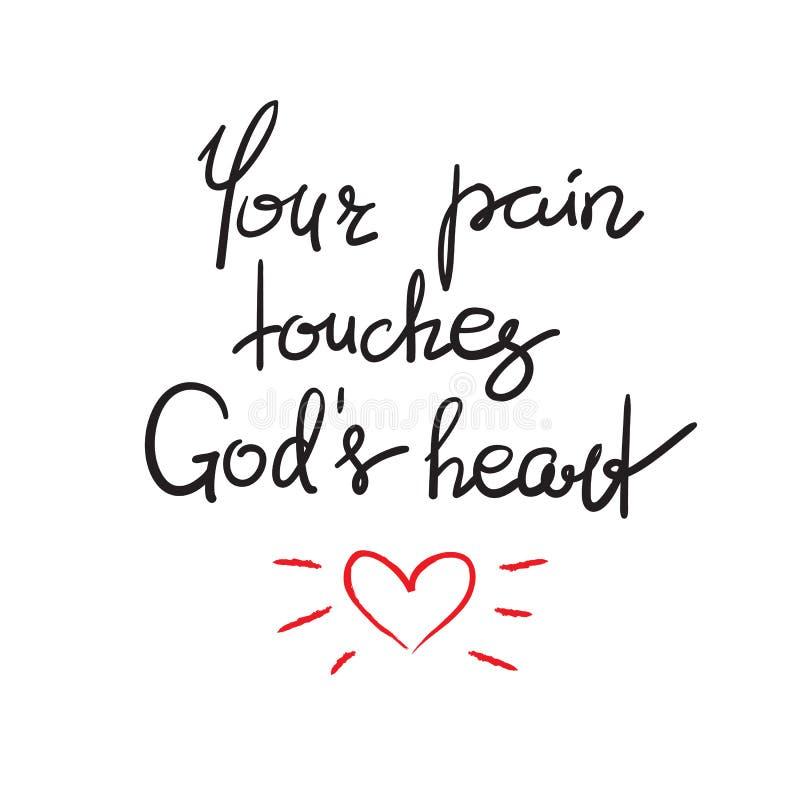 Twój ból dotyka bóg kierowych royalty ilustracja