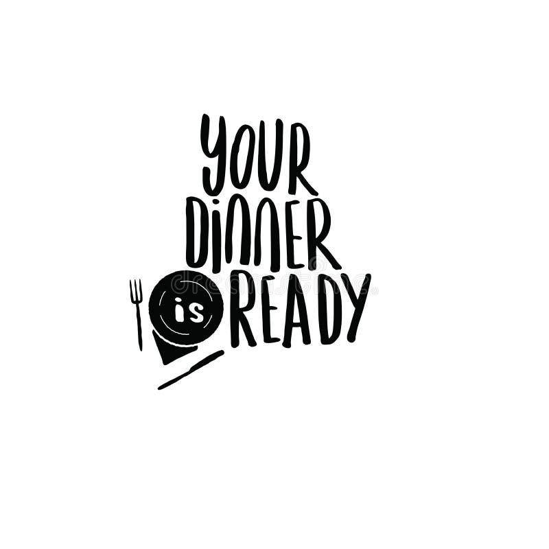 Twój gość restauracji jest gotowy Ręka pisać piszący list plakat 10 tło projekta eps techniki wektor ilustracji