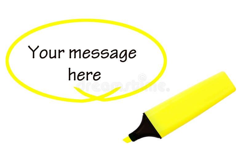 twój highlighter wiadomość obraz royalty free