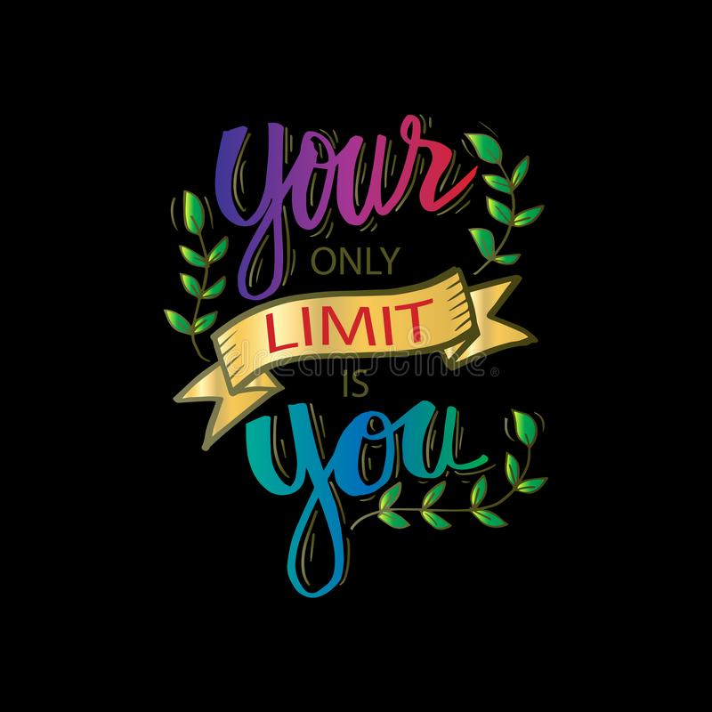 Twój jedyny ograniczenie jest tobą ilustracja wektor