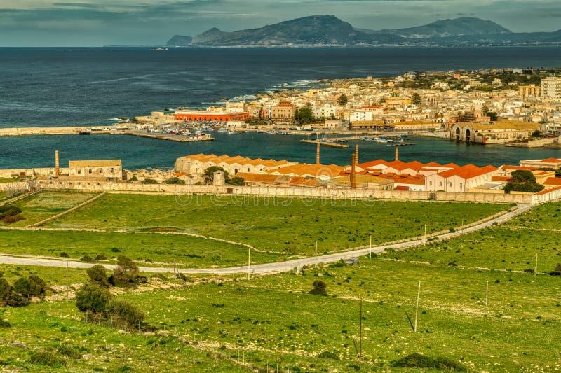 Twój oczy teraz Widzią Favignana przez Tyrrhenian morze Dla Trapani i, Sicily Z Ja obrazy royalty free