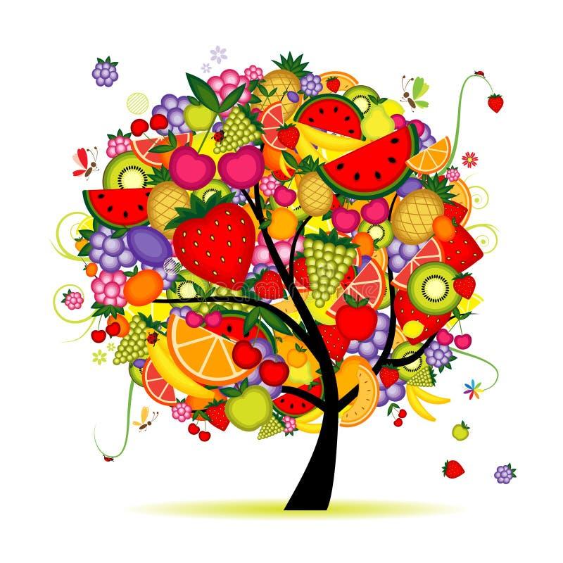 twój projekta drzewo energetyczny owocowy ilustracja wektor