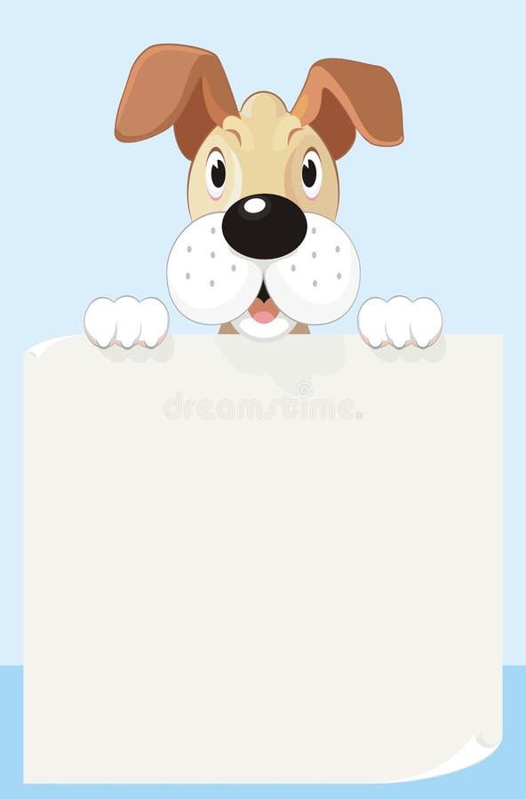 Twój Psia lista ilustracja wektor