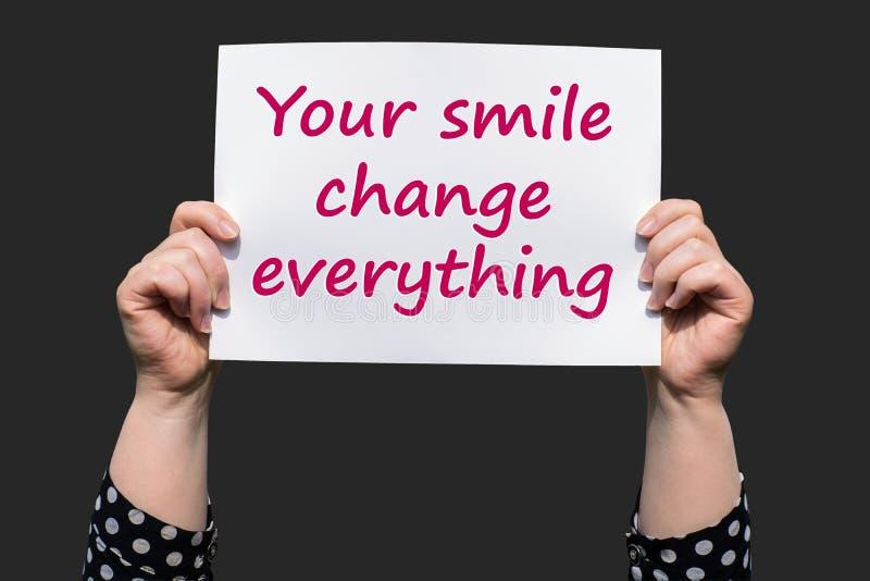 Twój uśmiech zmiana everything obraz royalty free
