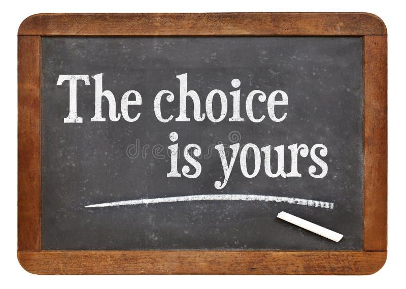 twój wybór obrazy stock