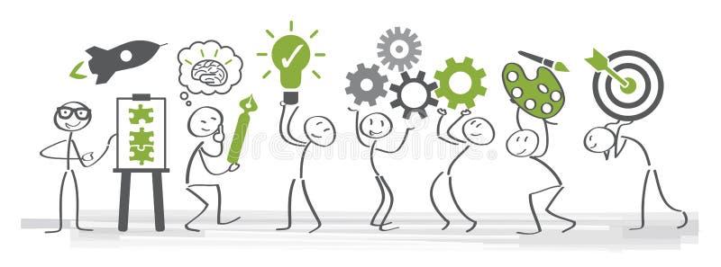 Twórczość i Brainstorming - Wektorowa ilustracja ilustracja wektor