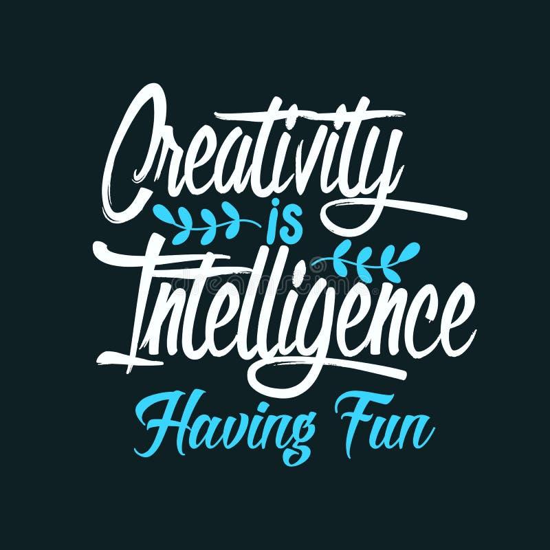 Twórczość jest inteligencją ma zabawę ilustracji