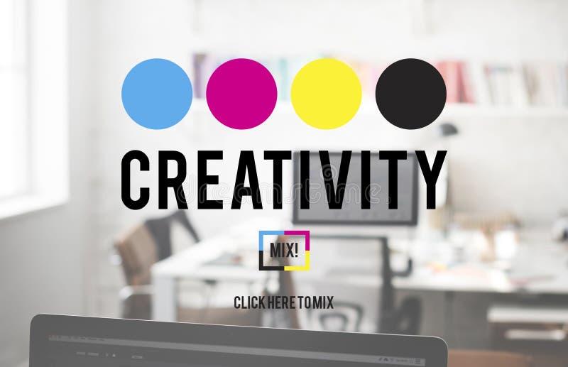 Twórczość koloru wyobraźnia Tworzy Proces pojęcie fotografia stock