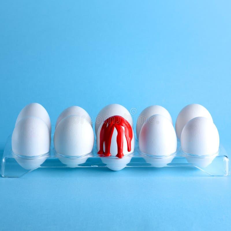 Twórczość wizerunek z jajkami Hemofilia, krwawienie, krwotoku pojęcie Odbitkowa przestrze? dla teksta obraz royalty free