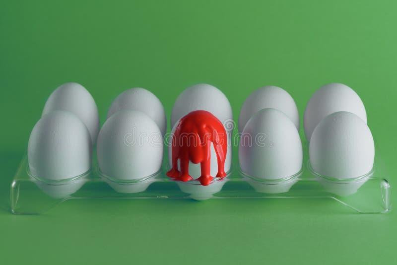 Twórczość wizerunek z jajkami Hemofilia, krwawienie, krwotoku pojęcie Odbitkowa przestrze? dla teksta zdjęcie stock