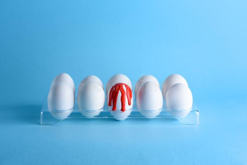Twórczość wizerunek z jajkami Hemofilia, krwawienie, krwotoku pojęcie Odbitkowa przestrze? dla teksta obrazy royalty free