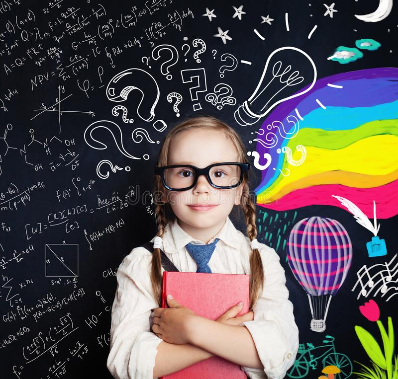 Twórczości edukacja, nowi pomysły, dobro i lewe hemisfery, fotografia royalty free
