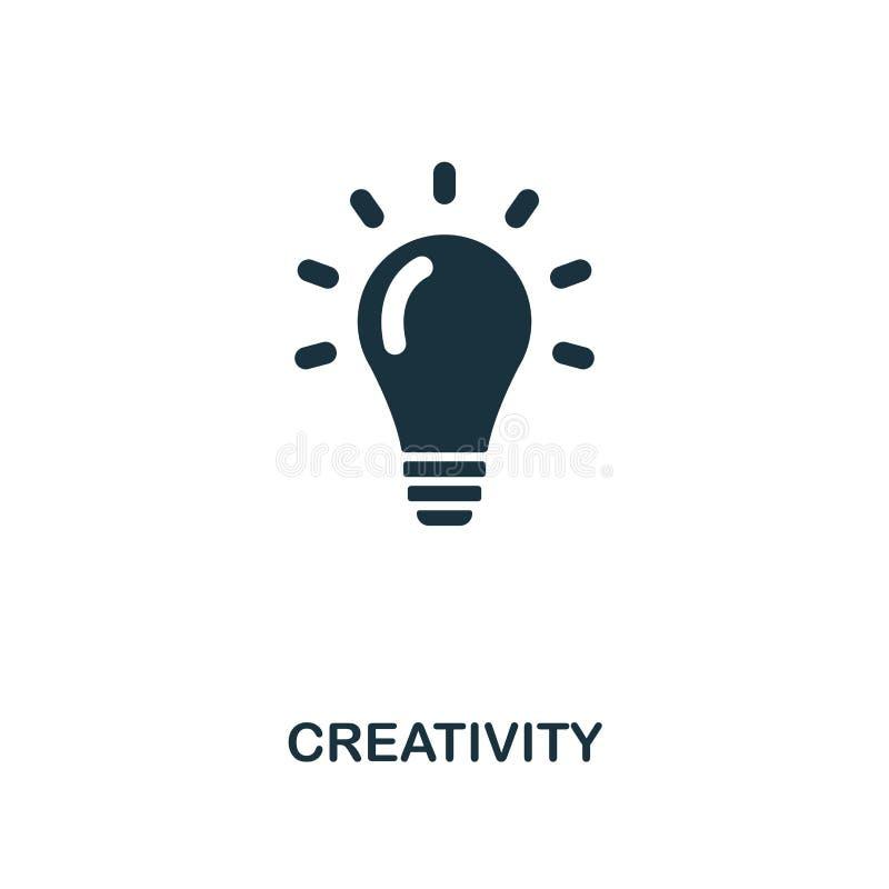 twórczości ikona Monochromu stylu projekt od biznesowej ikony kolekcji Ui Piksel doskonalić prosta piktogram twórczości ikona sie ilustracja wektor