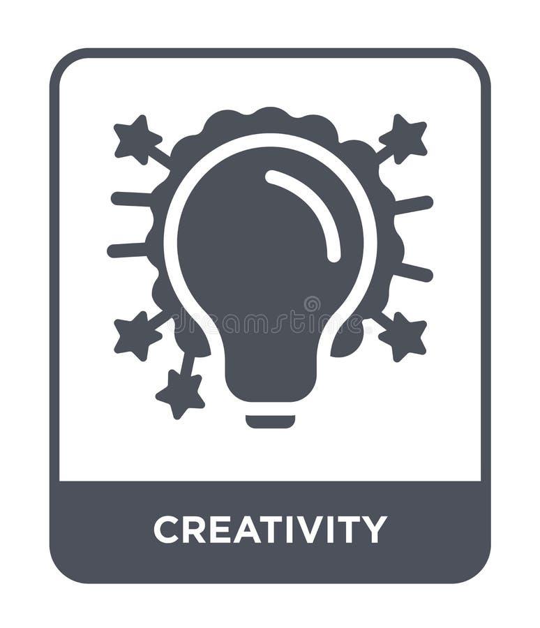 twórczości ikona w modnym projekta stylu Twórczości ikona odizolowywająca na białym tle twórczości wektorowa ikona prosta i nowoż ilustracja wektor